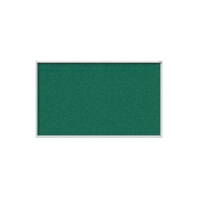 Ghent 4' x 12' Bulletin Board - Spruce Vinyl Surface - Silver Frame