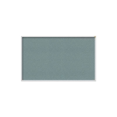 Ghent 4' x 12' Bulletin Board - Stone Vinyl Surface - Silver Frame