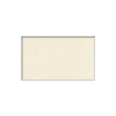 "Ghent 48""W x 48""H Vinyl Bulletin Board - Aluminum Frame - Ivory"
