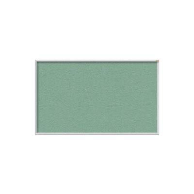 "Ghent 48""W x 48""H Vinyl Bulletin Board - Aluminum Frame - Mint"