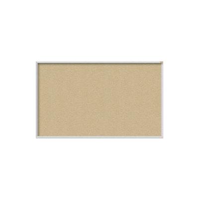 "Ghent 60""W x 48""H Vinyl Bulletin Board - Aluminum Frame - Caramel"