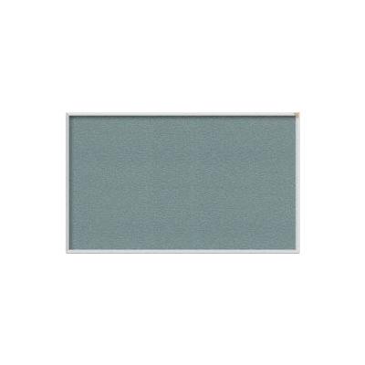 "Ghent 60""W x 48""H Vinyl Bulletin Board - Aluminum Frame - Stone"