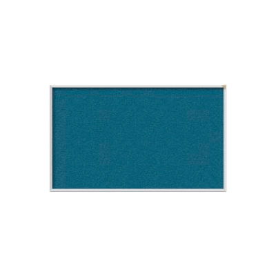 "Ghent 72""W x 48""H Vinyl Bulletin Board - Aluminum Frame - Ocean"
