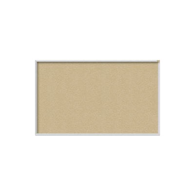 "Ghent 96""W x 48""H Vinyl Bulletin Board - Aluminum Frame - Caramel"