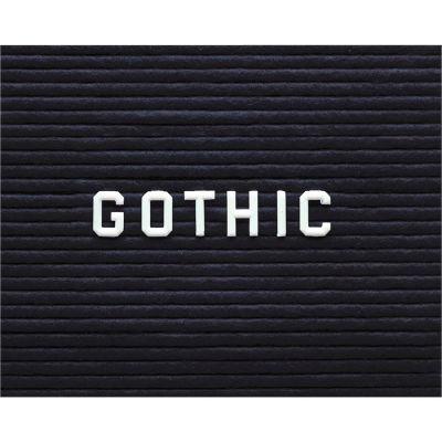 "Ghent Gothic Letter Set - 1"" Plastic White"