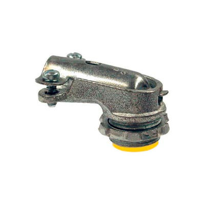 """Hubbell 3201 Squeeze Connector 3/8"""" Trade Size Flex Or Armored Cable Insulated - Pkg Qty 50"""