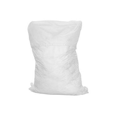 """25"""" corde Hamper sac, Poly/coton, blanc, bas droite, qté par paquet : 12"""