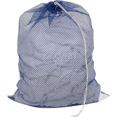 Sac avec cordon de serrage fermeture, genre filet bleu, 18 x 24, poids moyen, qté par paquet : 12