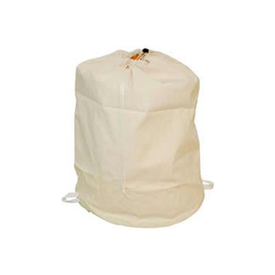 """25"""" Drawcord Laundry Bag, Cotton Duck, Natural, Straight Bottom - Pkg Qty 12"""