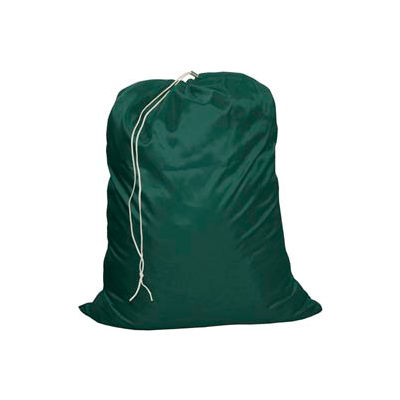 """25"""" cordon Laundry Bag, Nylon, vert, bas droite, qté par paquet : 12"""