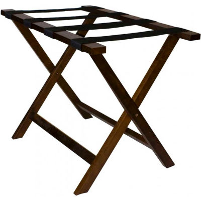 Deluxe Wooden Luggage Rack - Pkg Qty 4