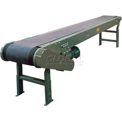 "Hytrol® Model TL 12'1""L Heavy Duty Slider Bed Conveyor 12-1-TL30 - 24""W Belt"
