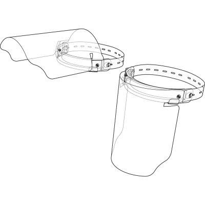 "Disposable Hinged Full Face Shield Elastic Strap, Foam Cushion, 12""W x 9""H - Pkg Qty 50"