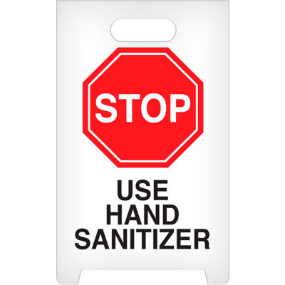 INCOM® Floor Sign 2 Sided English - Stop Use Hand Sanitizer - ASF1012