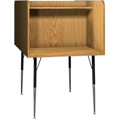"Ironwood Back-to-Back Study Carrel, 35-5/8""W x 58-3/8""D x 52-3/8""H, Natural Oak"