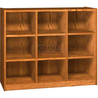 """Cubby Hole - Nine Openings - 52""""W x 17-5/8""""D x 42-3/8""""H Oiled Cherry"""