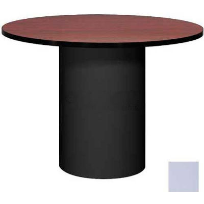 """Ironwood 42"""" Round Conference Table Folkstone Gray Top/Gray Base"""