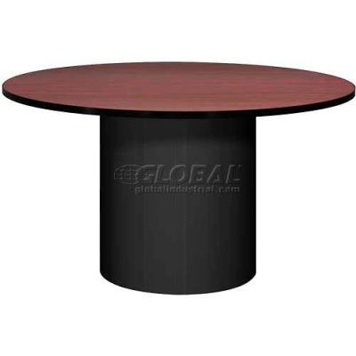 "Ironwood 48"" Round Conference Table Mahogany Top/Black Base"