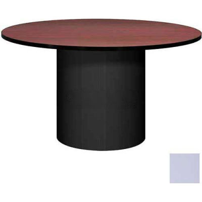 """Ironwood 48"""" Round Conference Table Folkstone Gray Top/Gray Base"""