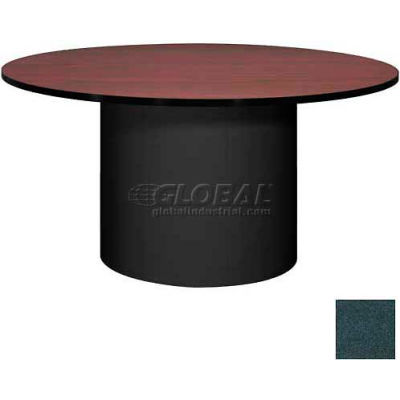 "Ironwood 60"" Round Conference Table Black Granite Top/Black Base"
