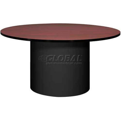 "Ironwood 60"" Round Conference Table Mahogany Top/Black Base"