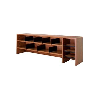 "Desk Top Organizer High Capacity - 58""W x 12""D x 18""H Oak"