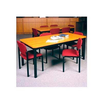 """Square Library Table - 36""""W x 36""""D x 25""""H Oiled Cherry"""