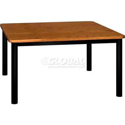 """Square Library Table - 48""""W x 48""""D x 25""""H Oak"""