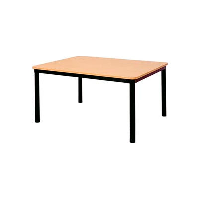 "Square Library Table - 48""W x 48""D x 29""H Amber Ash"