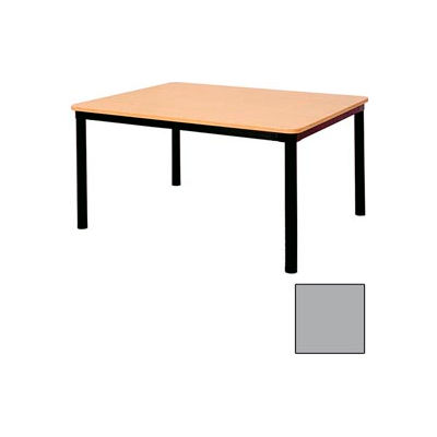 """Rectangle Library Table - 60""""W x 48""""D x 29""""H Gray"""