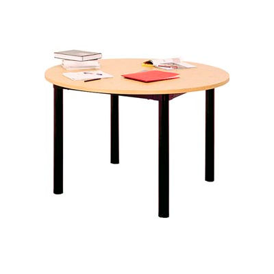 """Round Library Table - 48""""W x 48""""D x 25""""H Amber Ash"""