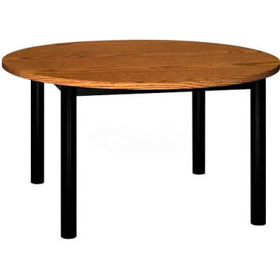 """Round Library Table - 48""""W x 48""""D x 25""""H Oak"""