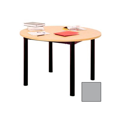 "Round Library Table - 48""W x 48""D x 25""H Gray"