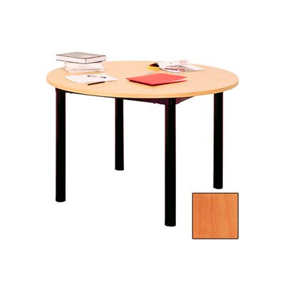 """Round Library Table - 60""""W x 60""""D x 25""""H Oiled Cherry"""