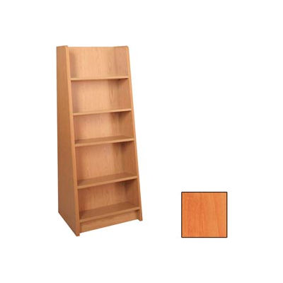 """Paperback Display - End-of-Range 60H - 23-7/8""""W x 18""""D x 60""""H Oiled Cherry"""