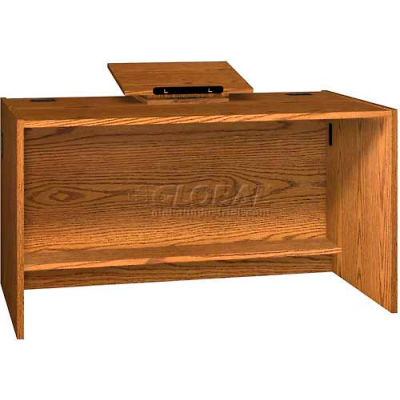 """Revolving Dictionary Stand - Table Top - 22""""W x 16""""D x 5-1/2""""H Oak"""