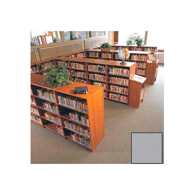 "60"" Double Face Shelving Base - 37""W x 24""D x 59-7/8""H Gray"
