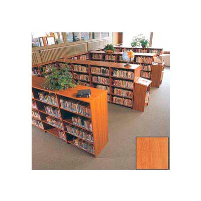 "60"" Double Face Shelving Base - 37""W x 24""D x 59-7/8""H Oiled Cherry"