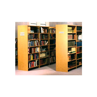 "84"" Double Face Shelving Adder - 36""W x 24""D x 83-3/4""H Amber Ash"