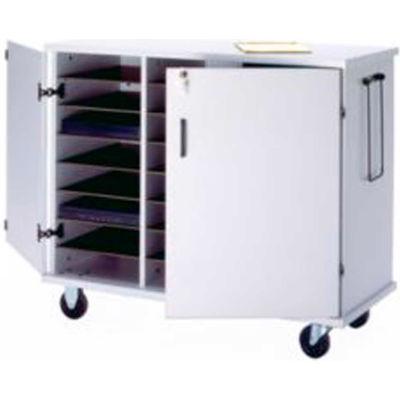 "Ironwood Glacier™ Laptop Storage Cart, 43-1/2""W x 20""D x 35-1/2""H, Folkstone Gray"