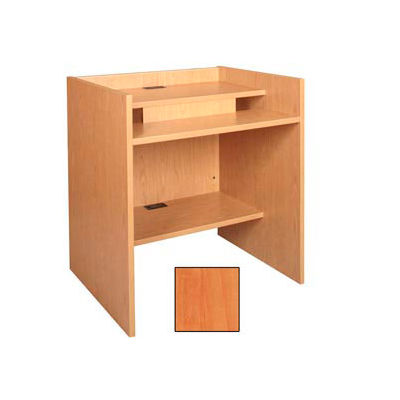 """36"""" x 32"""" Patron Access Station - 36""""W x 30""""D x 39-1/8""""H Oiled Cherry"""