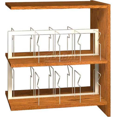 "42"" Picture Book Shelving Adder - 36""W x 23-7/8""D x 40-7/8""H Amber Ash"
