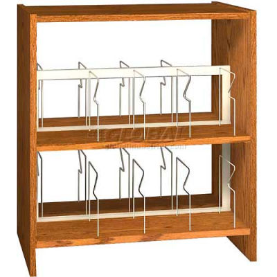 """42"""" Picture Book Shelving Base - 37""""W x 23-7/8""""D x 40-7/8""""H Oiled Cherry"""