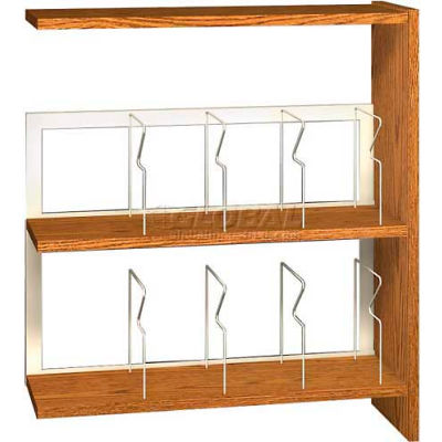 """42"""" Picture Book Shelving Adder - 36""""W x 12-1/2""""D x 40-7/8""""H Gray"""