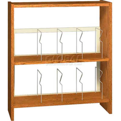 """42"""" Picture Book Shelving Base - 37""""W x 12-1/2""""D x 40-7/8""""H Oiled Cherry"""