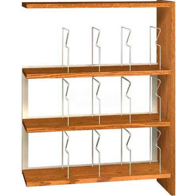 """48"""" Picture Book Shelving Adder - 36""""W x 12-1/2""""D x 47-1/4""""H Gray"""