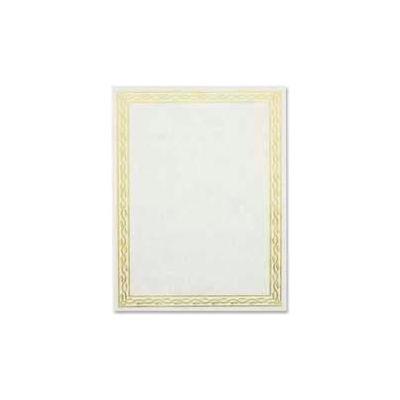 "Geographics® Blank Serpentine Certificate, Golden Seal, 11"" x 8-1/2"", 12 pk"