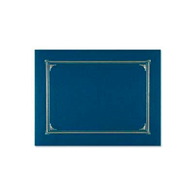 "Geographics® Linen Certificate Cover, 12-1/2"" x 9-3/4"", Navy Blue, 6/Pack"