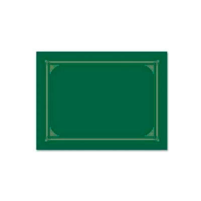 "Geographics® Award Certificate Document Cover, 12-1/2"" x 9-3/4"", Green, 6/Pack"