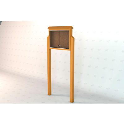 """Frog Furnishings Medium Message Center, Recycled Plastic, Two Sides, Two Posts, Cedar, 36""""W x 26""""H"""